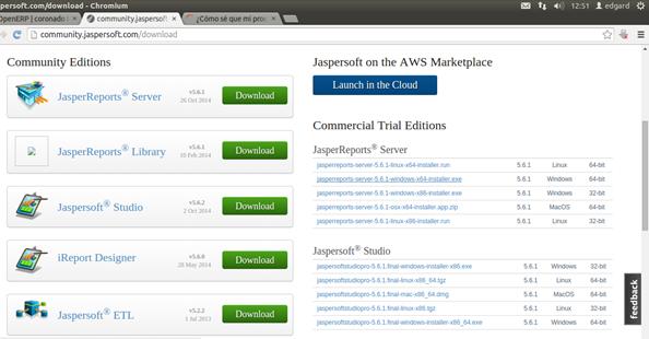 Instalación de Jasper Server y Apache Tomcat – Edy's Blog